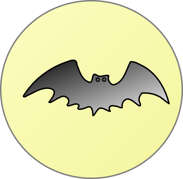 clip freeuse download Bat With Moon Clip Art at Clker