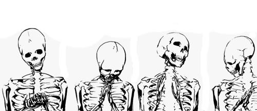 vector royalty free stock Bones transparent spooky. Skulls black and white