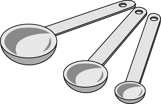 clip black and white library Measuring Spoons Clipart