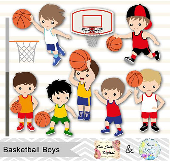 picture library stock Digital basketball boys boy. Sport clipart