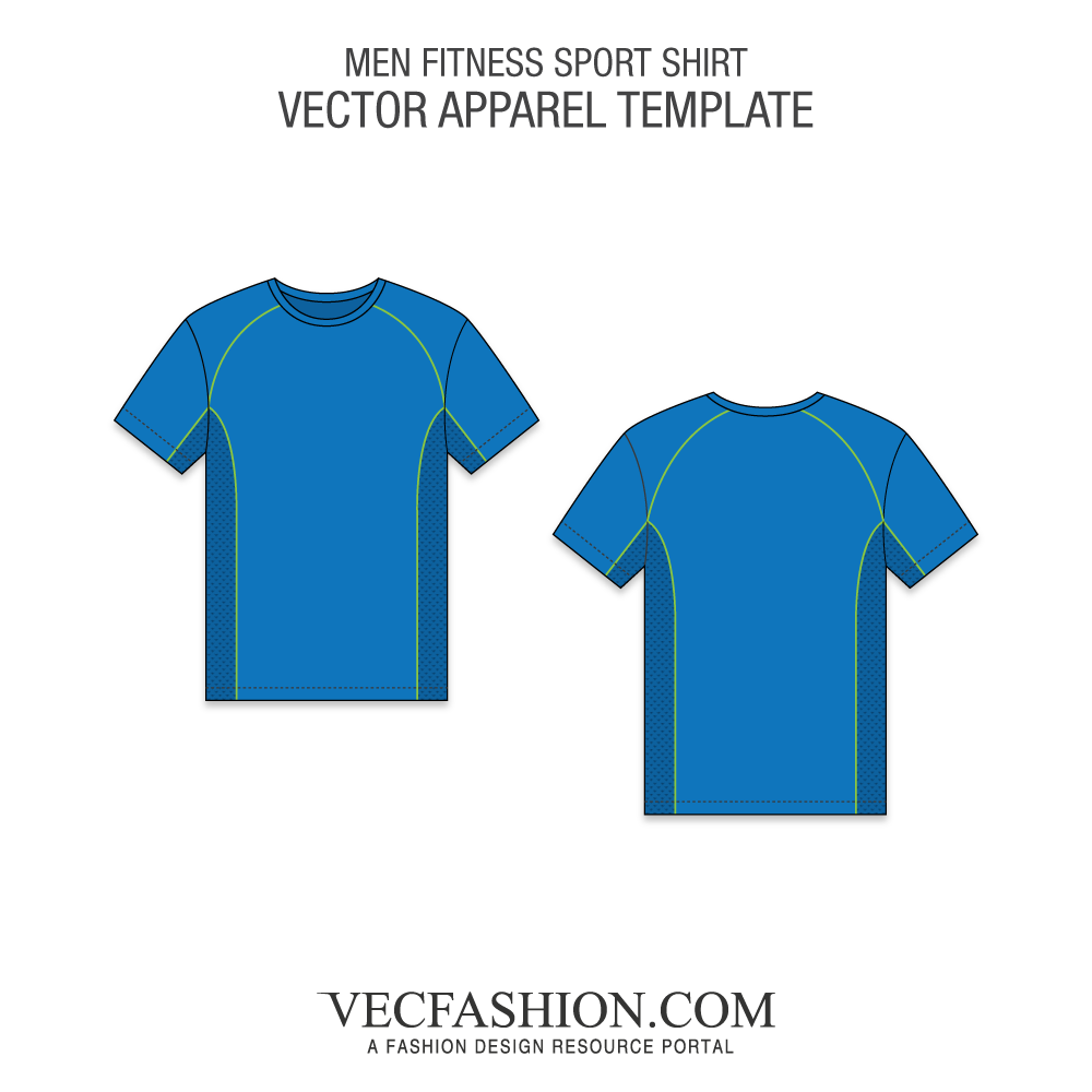 svg black and white stock Fitness Sport Shirt Vector Template