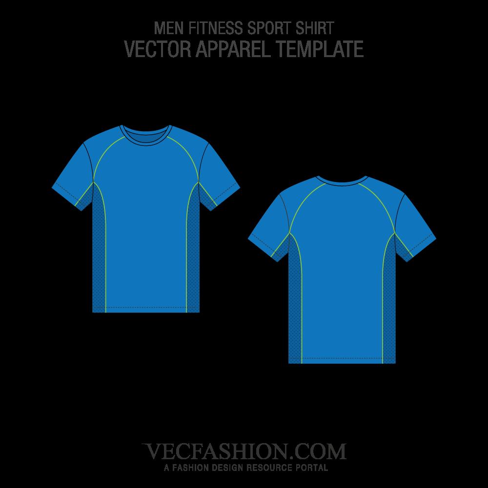 clipart Fitness sport shirt vecfashion. Vector template.