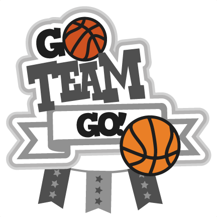 png black and white download Basketball Team Go Clipart