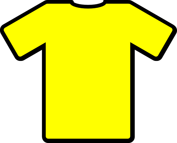 clipart free Yellow Tshirt Clip Art at Clker