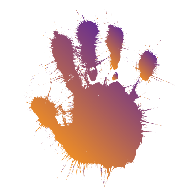 picture black and white Splash hand with shape. Vector color splatter