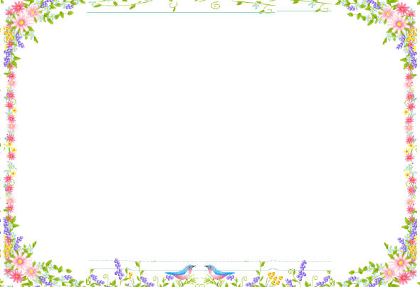 vector royalty free library Spring clipart borders. Free cliparts download clip