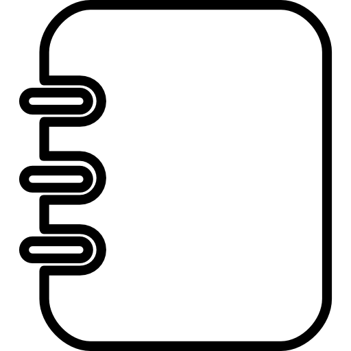 clipart black and white library Notebook outlined rectangular tool with spring