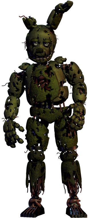 jpg black and white stock Springtrap