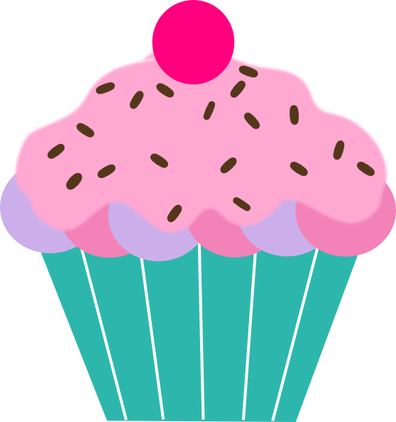 library Sprinkles clipart. Cupcake with