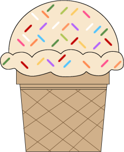 png transparent stock Vanilla ice cream cone. Sprinkles clipart
