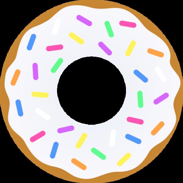 banner library library Donut Vanilla Sprinkles