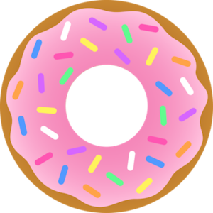 jpg free stock Strawberry sprinkles free images. Vector donut