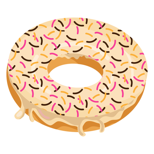 royalty free download Vanilla doughnut with sprinkles
