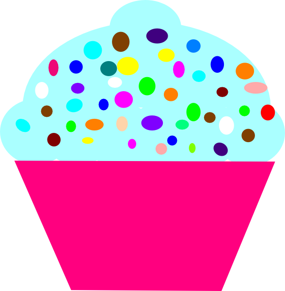 banner black and white stock Cupcake pink clip art. Sprinkles vector clipart