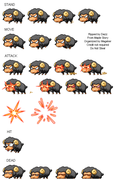 graphic royalty free stock sprite sheet sheep monster