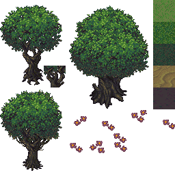 vector free download Tree Pixel Art rpg maker