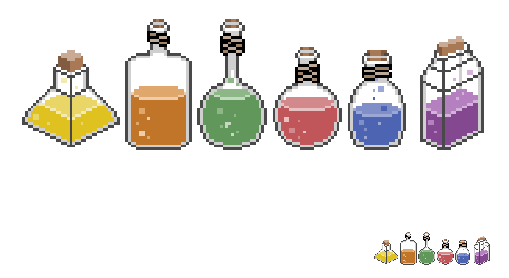 clipart free library Pixel art Potion Sprite
