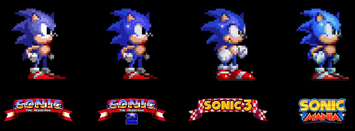 vector free library Sonic Mania Sprite Sega Genesis Comparison