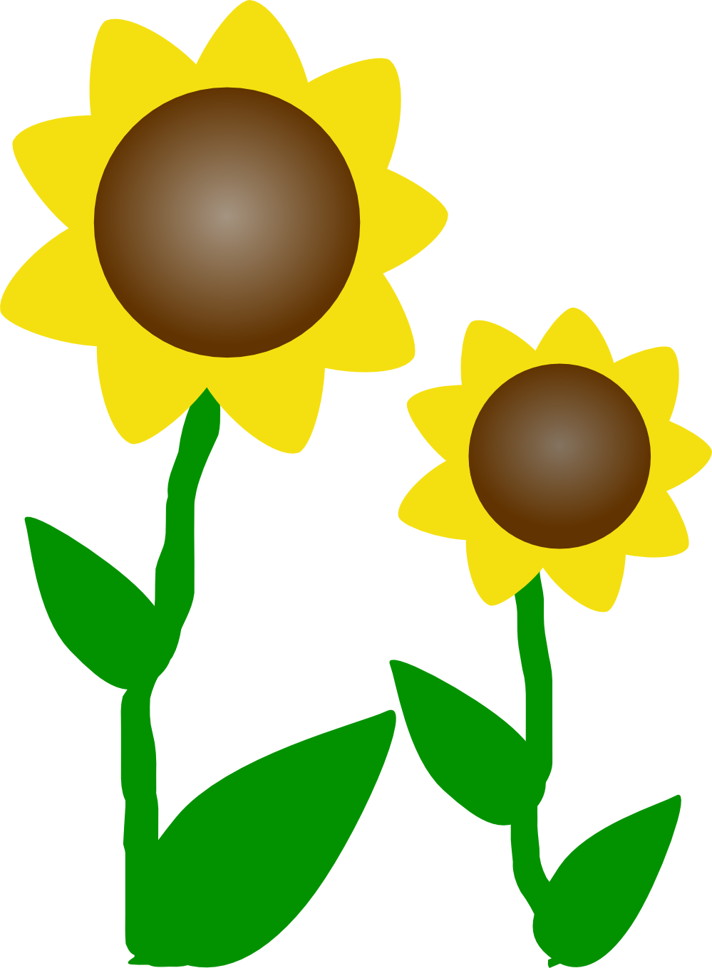 graphic black and white Happy Sunflower Clipart