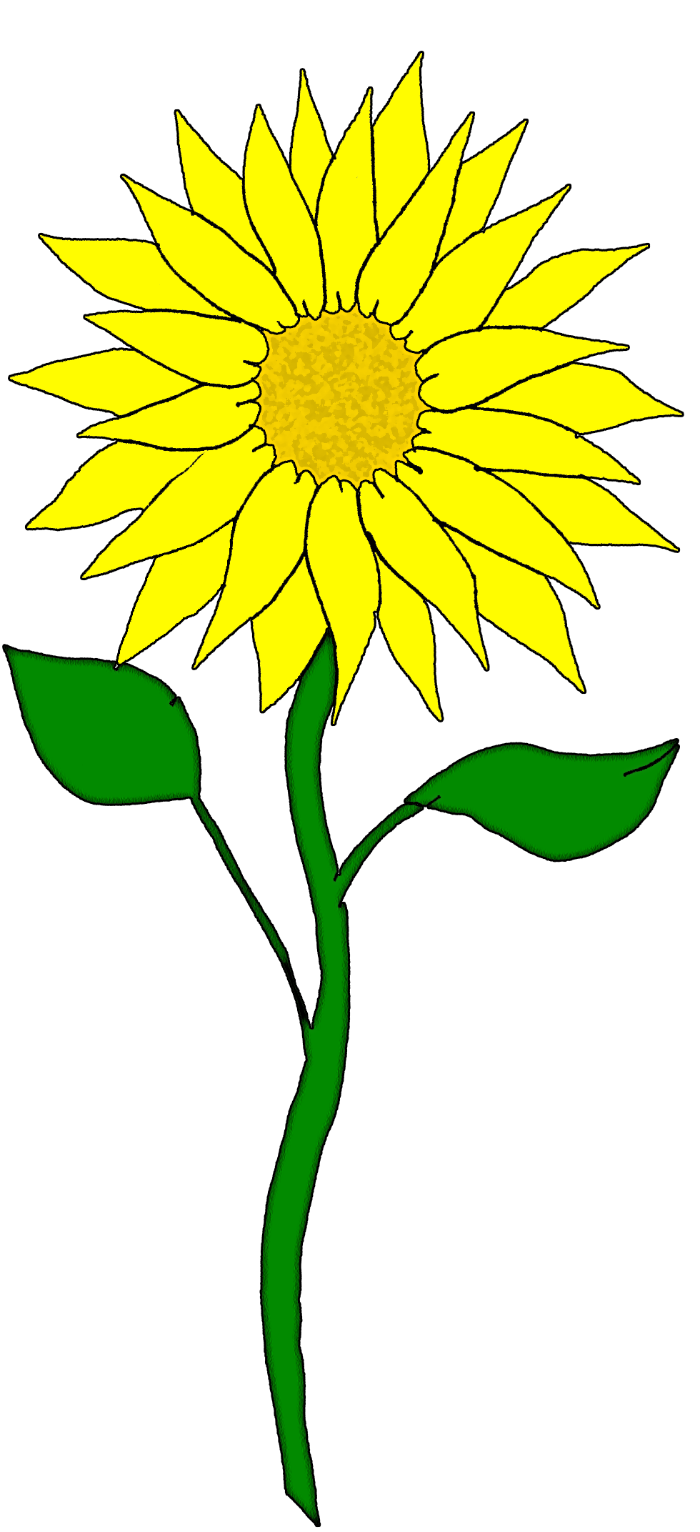 vector black and white Sprout clipart sunflower stem. Happy panda free images