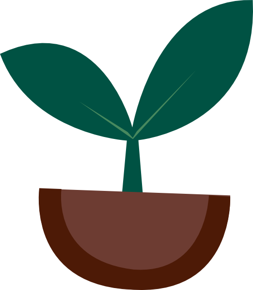 vector black and white library Plant clip art at. Sprout clipart