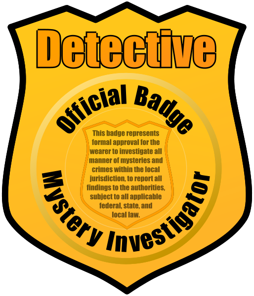 clip black and white stock Detective Clipart Free