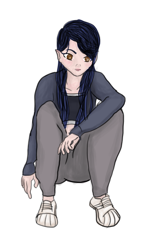 image freeuse Squatting girl pose with shell toes by styxal on DeviantArt