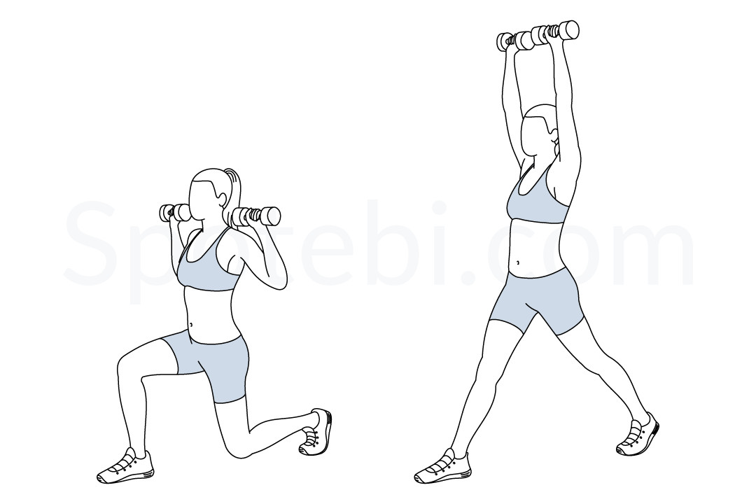 clip art free stock Split Squat Press