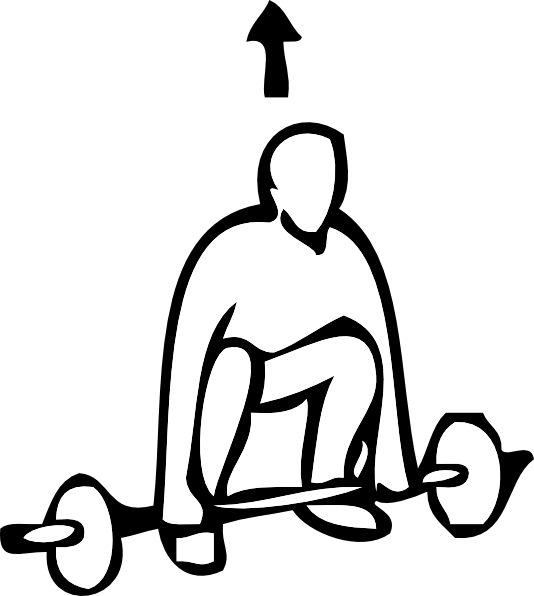 svg freeuse Weight Lifting Drawing at GetDrawings