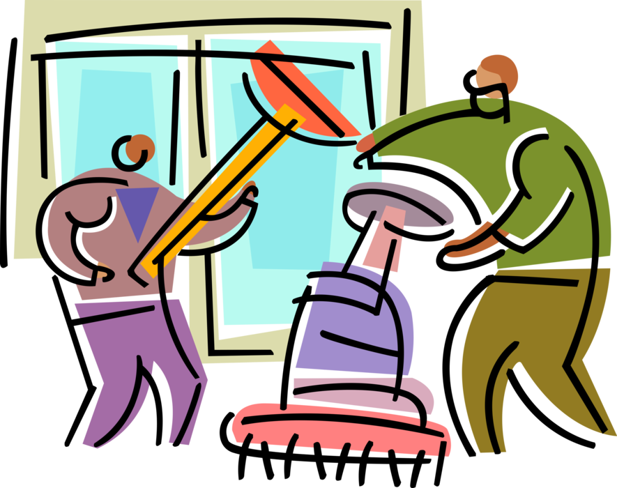 clip art free Office Maintenance Worker Cleaners
