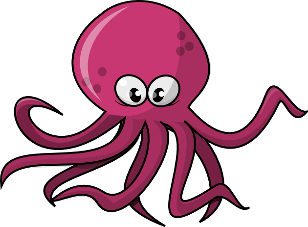 clip art transparent library Cartoon squid clipart clipartfest