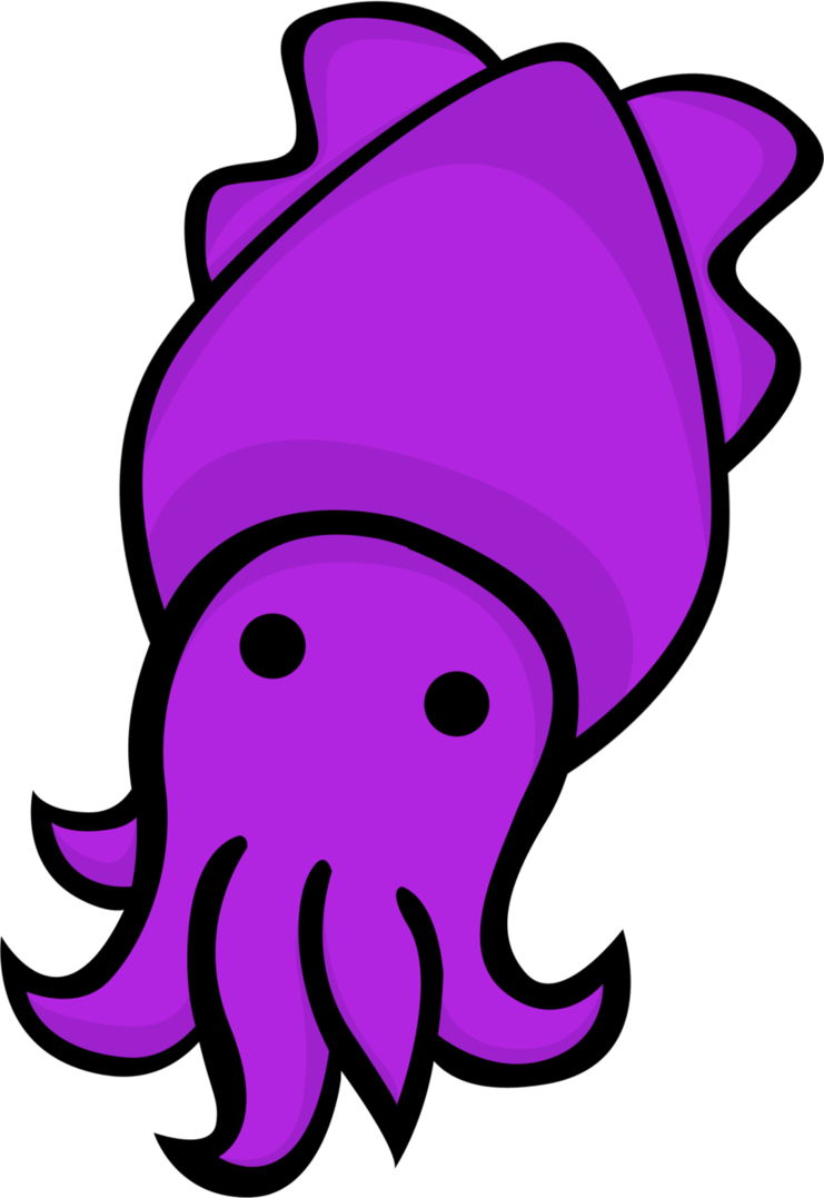 banner black and white stock Cuttlefish Clipart purple