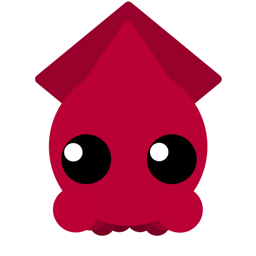 svg library download squid transparent red cartoon #103656548
