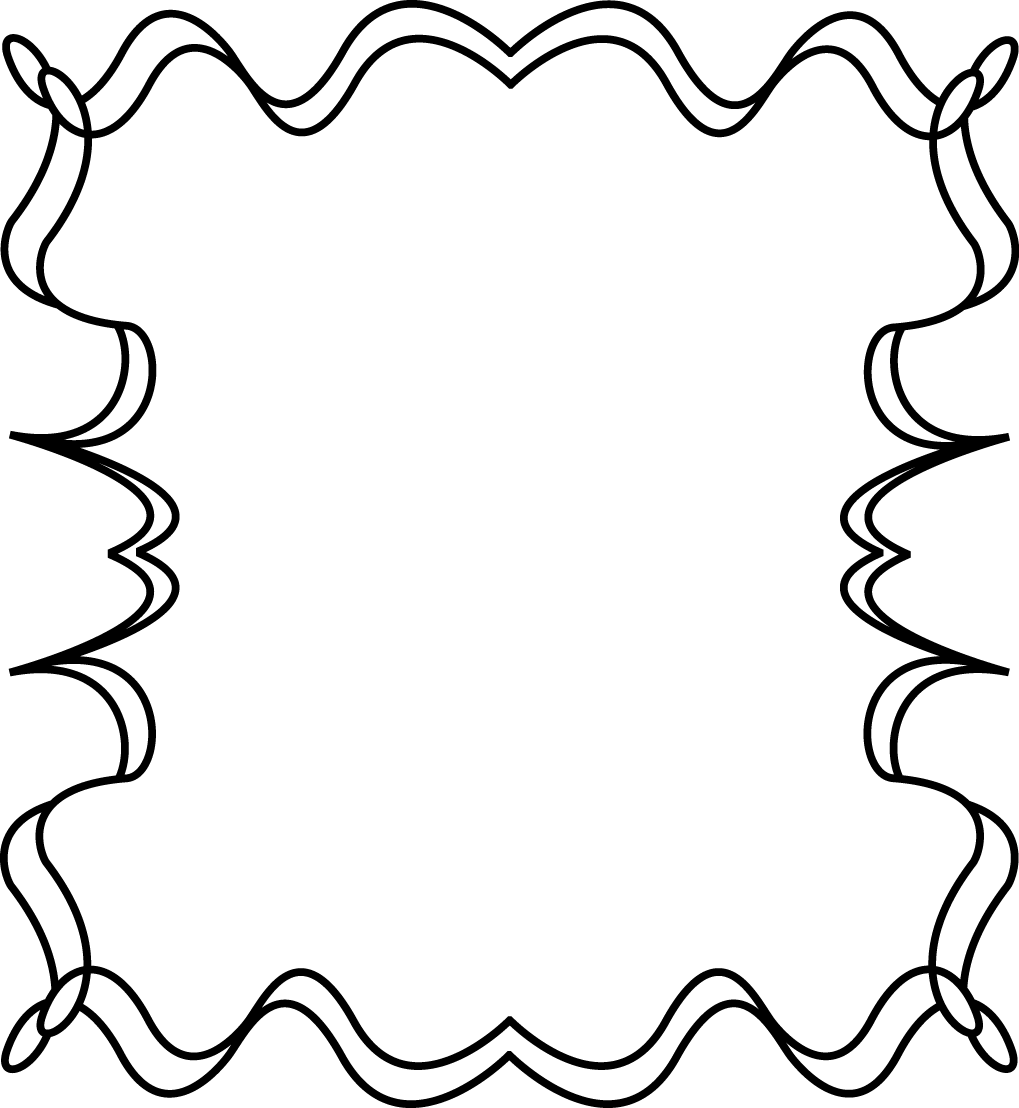 picture freeuse download Full Page Squiggly Zig Zag Border Frame