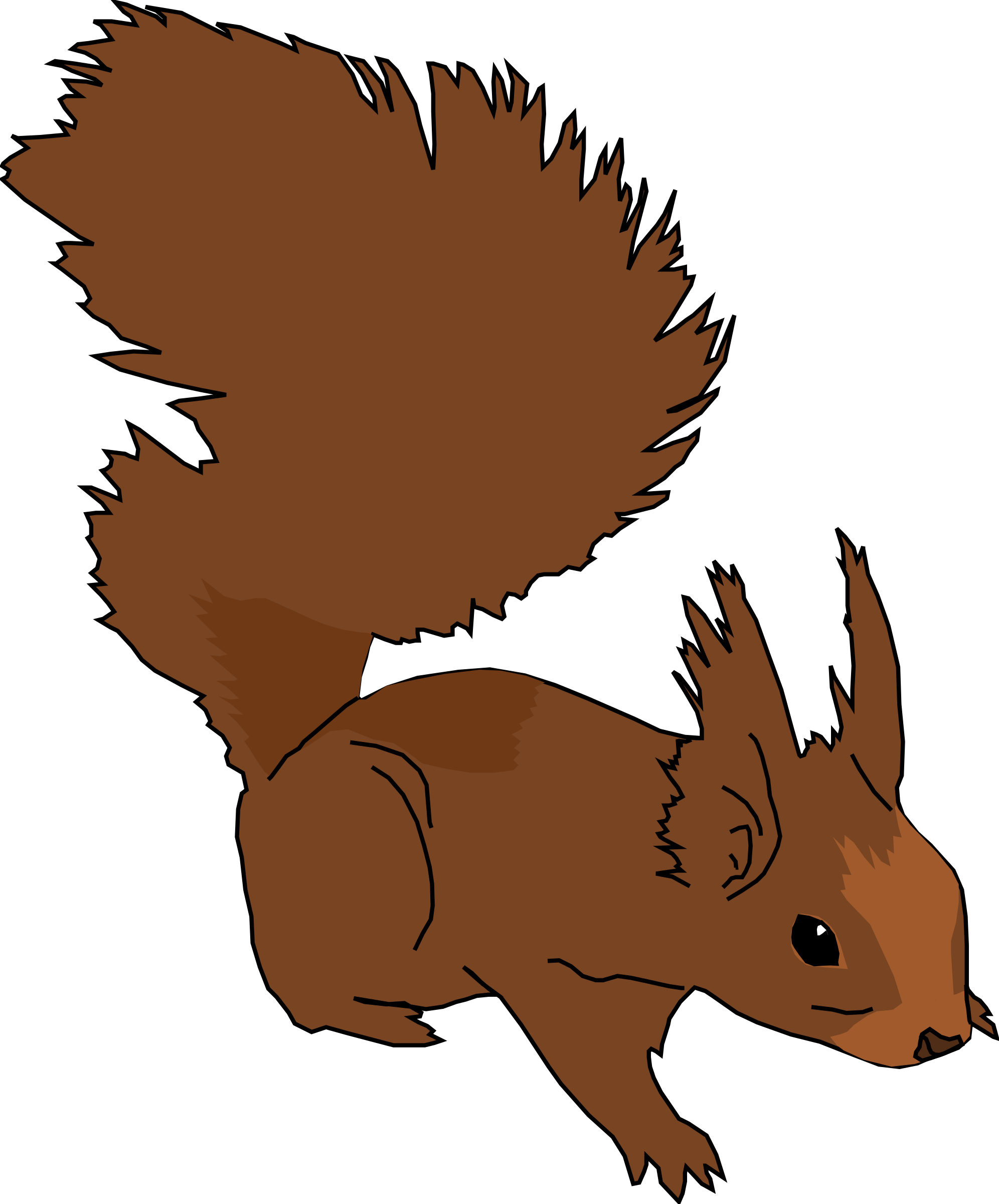 clip art black and white Squirrel Clipart transparent background