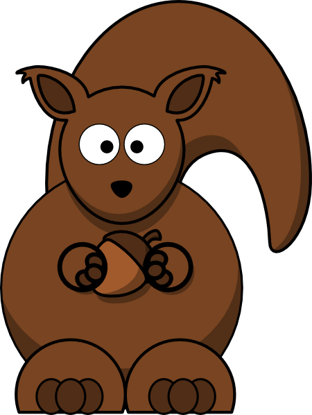 jpg library stock Squirrel With Nut Clip Art at Clker