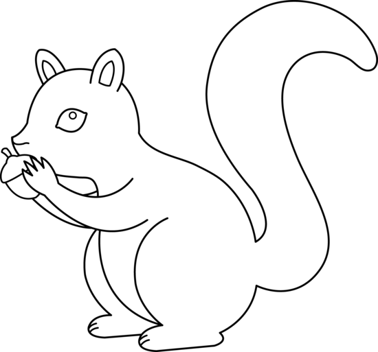 svg free library Squirrel Outline Clipart