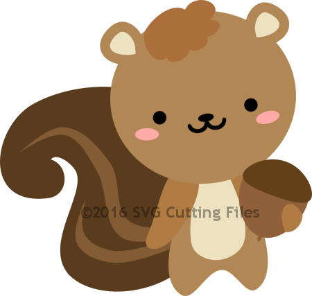 clipart free library Chibi Squirrel with Nut