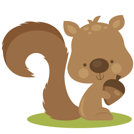 png black and white library Fall Squirrel SVG cutting files for scrapbooking fall svg cut files