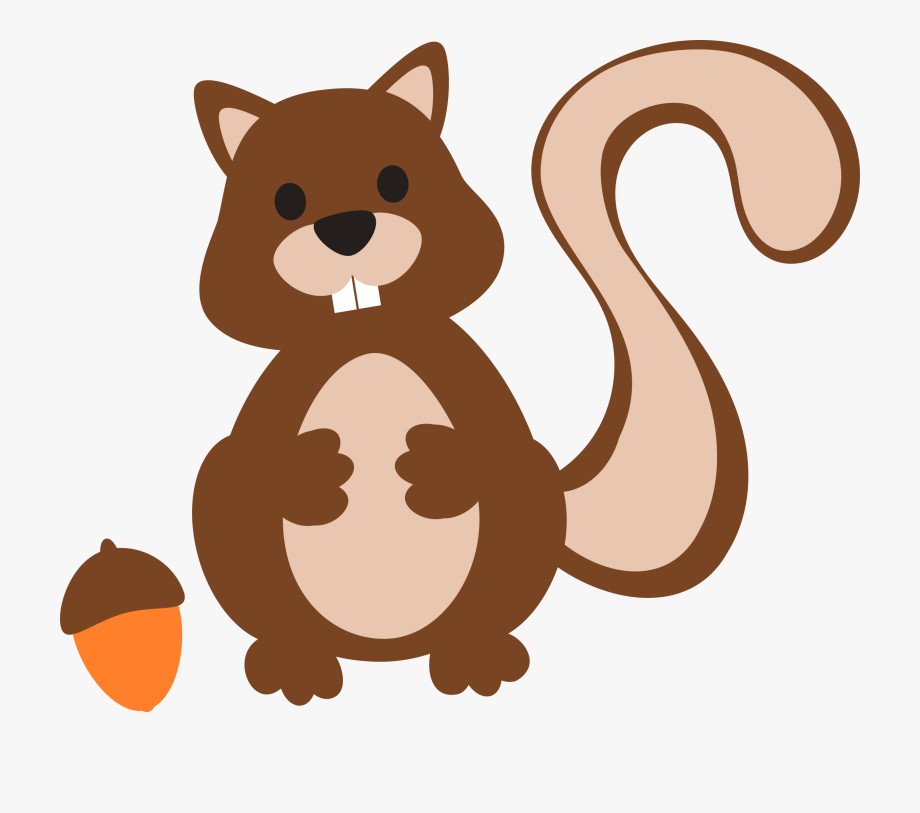 svg download Squirrel with acorn clipart. Silhouette cartoon free