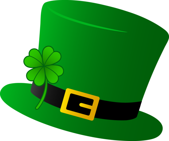 picture black and white library Green Saint Patricks Day Hat
