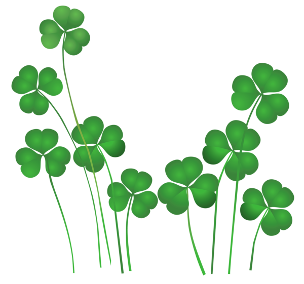 jpg transparent library Shamrock Saint Patricks Day Clipart Love You Sweetheart