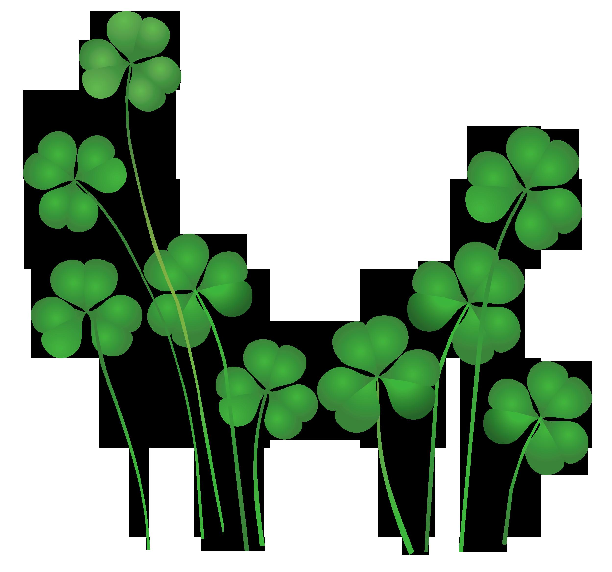 banner free stock St Patricks Day Shamrocks Decor PNG Clipart
