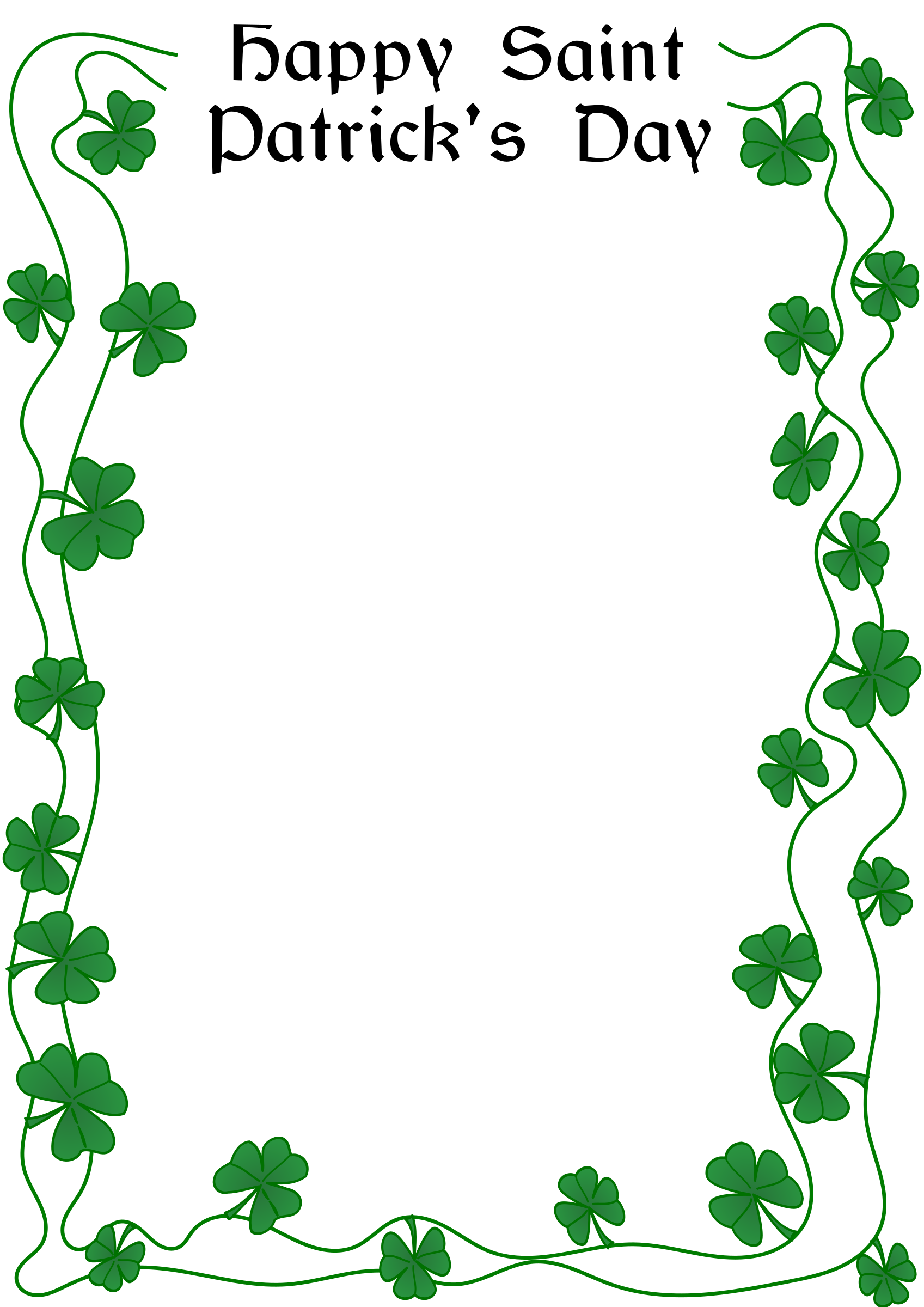 banner black and white library St patricks day border clipart. Patrick s by arvin