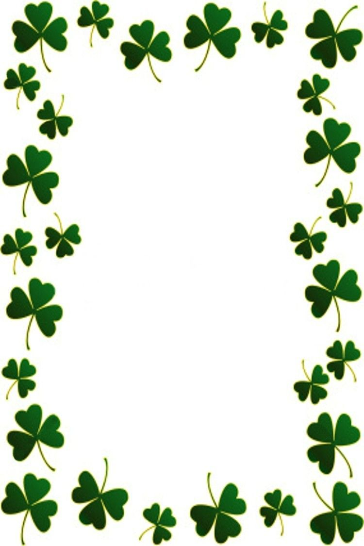 clip art black and white Pin by rt digital. St patricks day border clipart