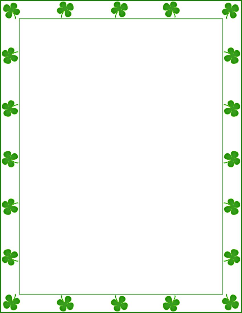 vector transparent Saint patrick shamrock borders. St patricks day border clipart