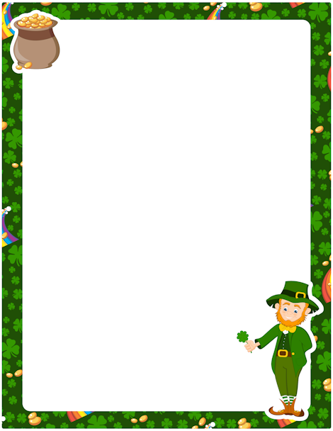 image library download St patricks day border clipart. Pin by muse printables