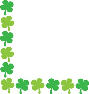 graphic transparent library St patricks day border clipart. Borders clip art library
