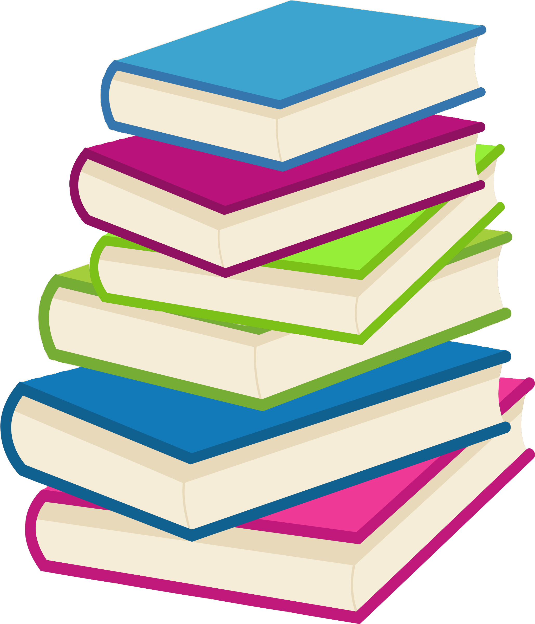 clip library Stack of books big. Writer clipart one student