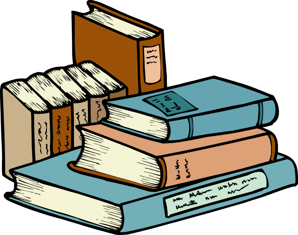 picture transparent stock Books stack of a. Textbook clipart